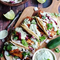 Blackened Fish Tacos with Avocado-Cilantro Sauce Recipe