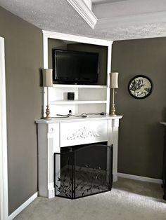 DIY Corner Fireplace Mantel Reveal