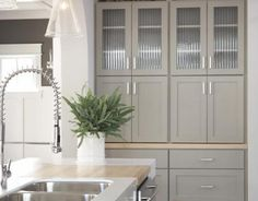 gray kitchen cabinetry