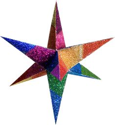 Color Moravian Stars and Decorative 3D Paper Stars