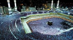 Hajj en la mezquita Masŷid Al-Haram, la más importante en la ciudad de La Meca.