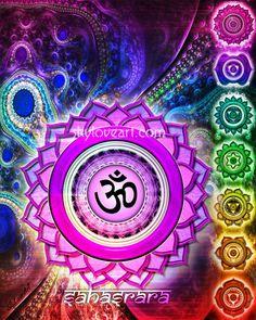 °Sahasrara ~ Crown Chakra • I Am One with All Creation.     |skyloveart