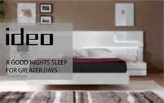 A good night's sleep for greater days Good Night Sleep, Mattress, Bed, Stuff To Buy, Furniture, Home Decor, Decoration Home, Stream Bed, Room Decor