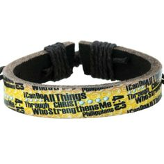 Christian Sports:  Basketball Leather Bracelet [$6.99]