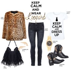 Leopard, leopard coat, leopard print, keep calm tee, outfit inspiration, ootd, what to wear, streetstyle