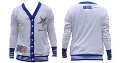 Order of the Eastern Star Cardigan Lightweight Cardigan-White - Brothers and Sisters' Greek Store