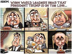 Political Cartoons of the Week: Trump Calling World Leaders