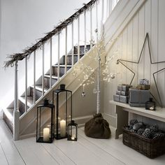 Christmas Decor Trends and Inspiration The White Company, Silver Christmas Decorations, Christmas Candles, Lantern Candle Holders, Candle Lanterns, Christmas Inspiration, Home Decor Inspiration, Home Accessories Sale, Christmas Room
