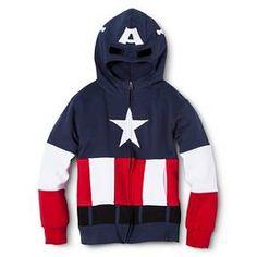 12/25/2015. Boys' Avengers Captain America Hoodie. My new sweatshirt!