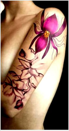 Orchid Tattoo Designs: Ghost Orchid Tattoo Ideas For Girl On Sleeve ~ Tattoo Design Inspiration Orchid Flower Tattoos, Hawaiian Flower Tattoos, Flower Tattoo Designs, Tattoo Flowers, Hawaiianisches Tattoo, Body Art Tattoos, Sleeve Tattoos, Crane Tattoo, Orchid Tattoo Meaning