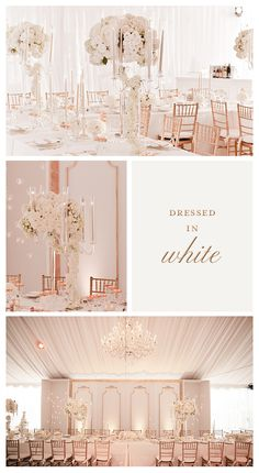 White and Rose Gold Wedding!..