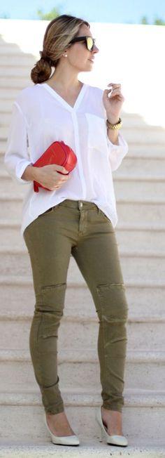Bonjour Military Jeans by Mes Voyages à Paris Zara Fashion, Womens Fashion, Fashion Trends, Fashion 2015, Fashion Ideas, Fall Winter Outfits, Winter Fashion, Spring Fashion, Casual Chic
