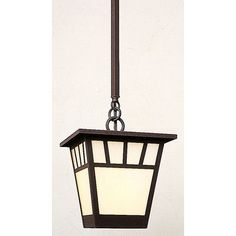 "Arroyo Craftsman Savannah 1 Light Mini Pendant Size: 8.75"" H x 7.5""W, Finish: Mission Brown, Shade Color: Gold White Iridescent"