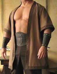 Details about Medieval Celtic Viking Barbarian Short Sleeves Coat Vest Jacket Costume Viking, Renaissance Costume, Medieval Costume, Folk Costume, Costumes, Renaissance Fair, Vikings, Viking Men, Viking Clothing