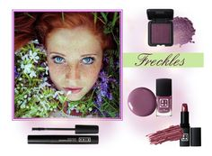 """""""Freckles"""" by sjlew ❤ liked on Polyvore featuring beauty"""