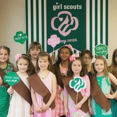 Girl Scouts Photo Props | brownies | girl scout bridging ceremony | GS | troop Beverly hills