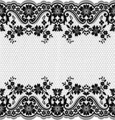 Flower with lace borders black vector 02 - Hintergrundpapiere Diy Crafts Paper Flowers, Diy Crafts Love, Border Pattern, Lace Border, Pattern Design, Lace Drawing, Pattern Drawing, Hand Embroidery Projects, Embroidery Patterns