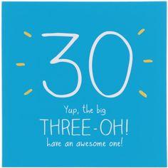 30 Yup, The Big Three-Oh! Card