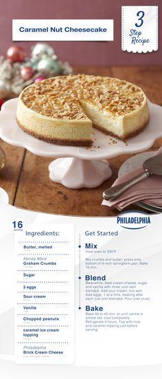 3-Step Recipe: Caramel Nut Cheesecake