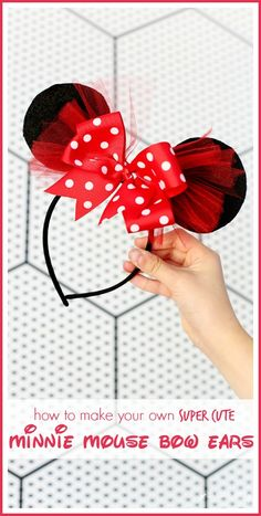 DIY Minnie Mouse Bow Headband - Sugar Bee Crafts - tutorial on how to make one for yourself!
