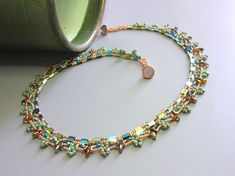 Tropical Island  Necklace beading tutorial by zviagil on Etsy, $8.00