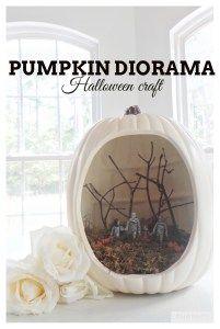 Halloween DIY kids craft.  Pumpkin Diorama Fun