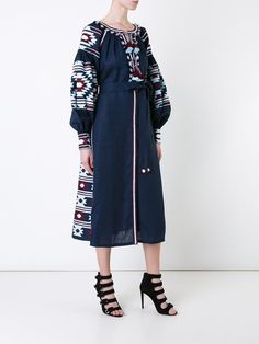 Vita Kin embroidered flared midi dress