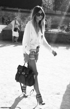 shorts heels summer outfit