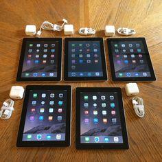 Lot of 5 Apple iPad 2 16GB Wi-Fi 9.7in - Black (MC954LL/A)