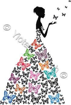 Butterfly girl cross stitch kit