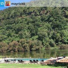 Gracias @mayricksPool time by the lake!! #sierralago #pool #agusto