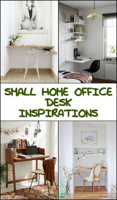 How beautiful are these small home office desk ideas? Do you know anyone who needs an inspiration too? :)