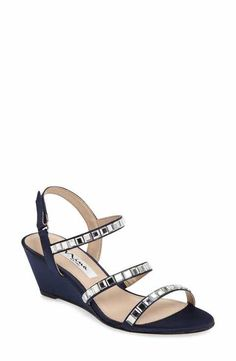 Nina Naleigh Strappy Wedge Sandal (Women)