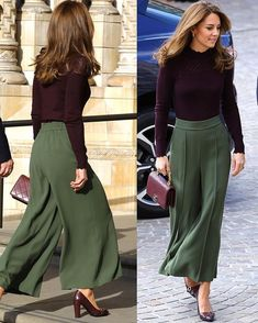 Dutchess Kate looked stylish in culottes as she arrived at Natu. Dutchess Kate looked stylish in culottes as she arrived at Natural History Museum in London today. During her visit, the Duchess of Ca. Estilo Kate Middleton, Kate Middleton Style, Modest Fashion, Fashion Dresses, Hijab Fashion, Fashion 2020, Fashion Tips, Fashion Hacks, Jeans Fashion