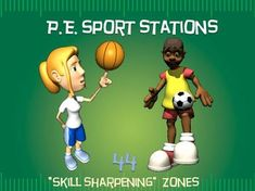 """SKILLTASTIC""!!! The following 44 ""sport-specific"" stations (and corresponding Station Cards) have been created as an aid for a PE Teacher, Classroom Teacher or Small Group Leader in a camp or church."