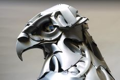 For over 12 years, Ptolemy Elrington has been morphing discarded hubcaps into amazing animal sculptures.