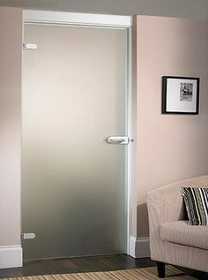 Sandblast Hinged Glass Doors   Frameless Glass Doors Create A Fabulously  Contemporary Look In Any Room