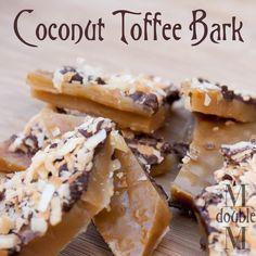 M double M: Coconut toffee bark (recipe).