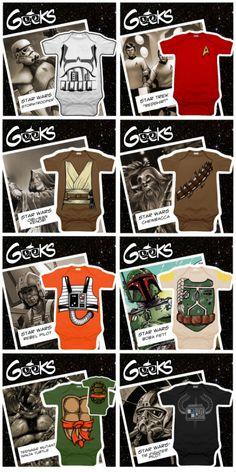 Onesies for Geek toddlers on Kickstarter