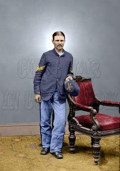 """Boston Corbett Booth Lincoln assassination 8x10"""" Color Tinted Civil War"""