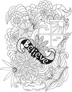 Welcome to Dover Publications  From: BLISS Inspirations Coloring Book: Your Passport to Calm