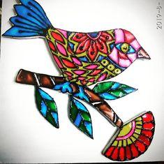Vibrant Bird Wall mural !🦜 Meraki, Clay Art, Wall Murals, Vibrant, Bird, Color, Instagram, Wall Paintings, Birds