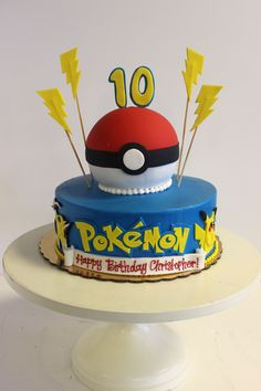 #Pokemon #cake from Sweet Treets Bakery! #gottacatchemall