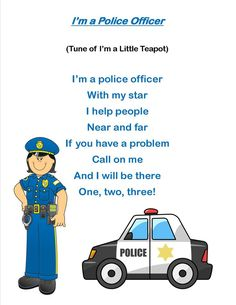 fireman and policeman songs for toddlers Community Workers, School Community, Community Jobs, Community Service, People Who Help Us, Helping People, Preschool Music, Preschool Lessons, Poems For Kindergarten