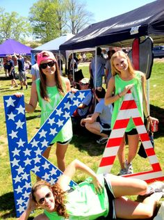 cute #kappadelta letters american flag style #DIY would be cute to do DZ letters this way!
