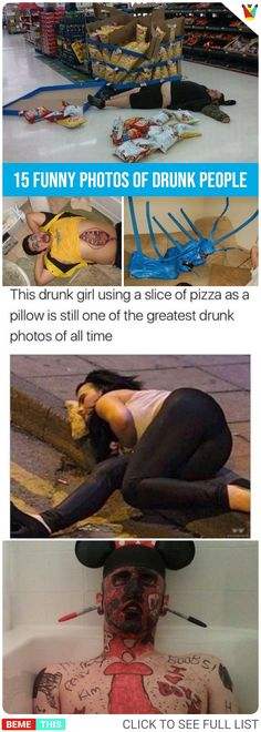 15 Funny Photos of Drunk People #funnypics #funnypictures #bemethis