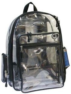 82bba6feca3 A+ Nexpak Large Clear Backpack http   www.amazon.com A · Clear BackpacksKids  BackpacksSchool ...