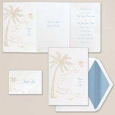 Elegant Sand Dollar Wedding Invitation