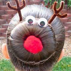 This one's for you AW! ;) Rudolph hair bun.