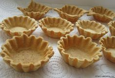 The coolest dough for crumbly baskets. So delicious that you do not want to experiment anymore! Russian Desserts, Russian Recipes, Muffins, Sweet Pastries, No Bake Cake, Sweet Recipes, Food To Make, Bakery, Food And Drink